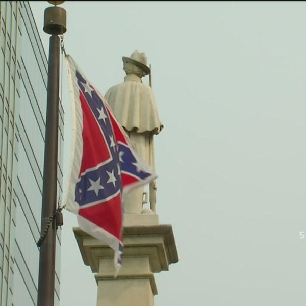 Confederate flag call for peace