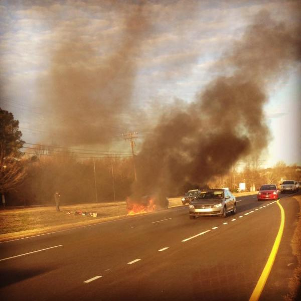 powdersville car fire_121392