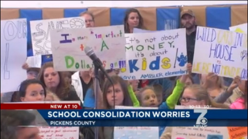 Parents, Teachers Outraged in Pickens County on Proposal to Close Schools_134185