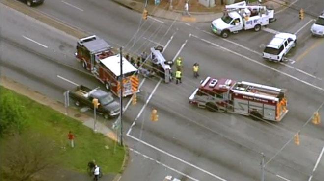 Highway 9 overturned car_161253