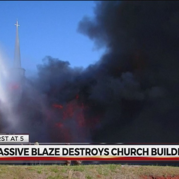 Church collapses after major fire in Greenville Co.