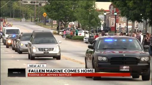 Woodruff Marine's body returns to Upstate after helicopter training crash_173682