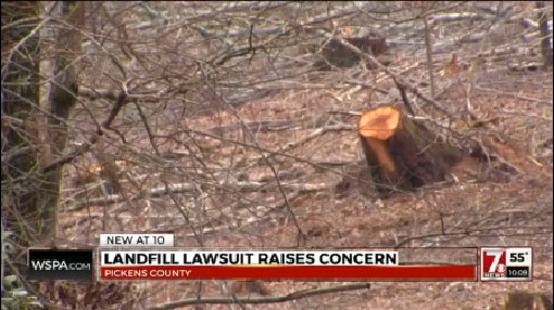 Landfill lawsuit raises concern in Pickens County_180729