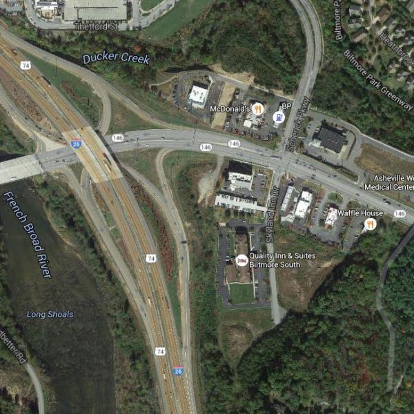 long shoals road map google_185719