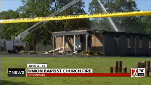 Community reacts after fire destroys Union Baptist Church in Greenville_198258