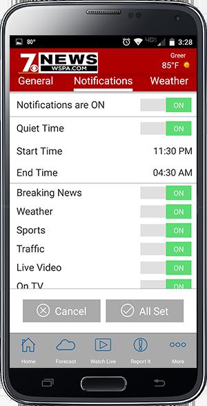 7News app quiet times