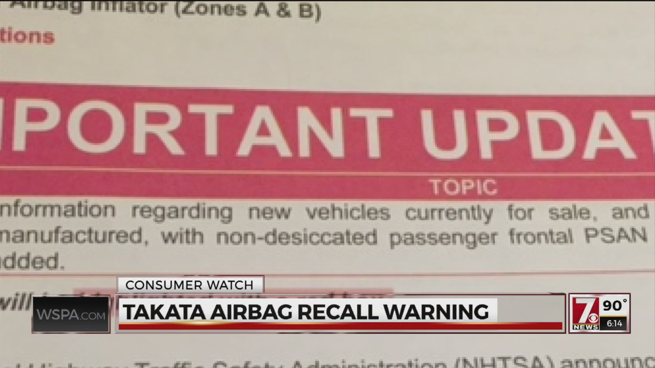 RECALL for Takata airbags, your car could be on the list