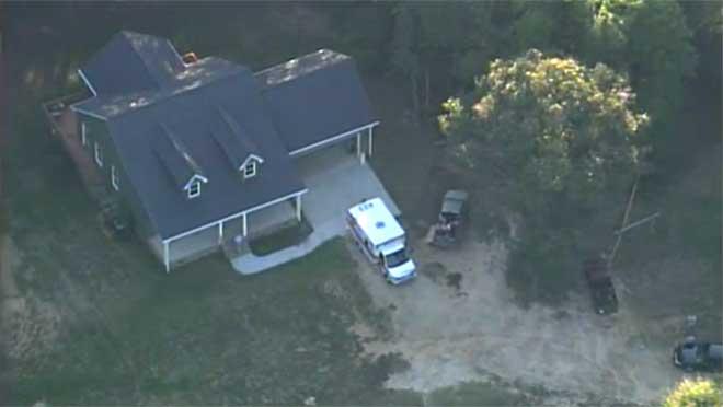 Osborne Rd homicide aerial