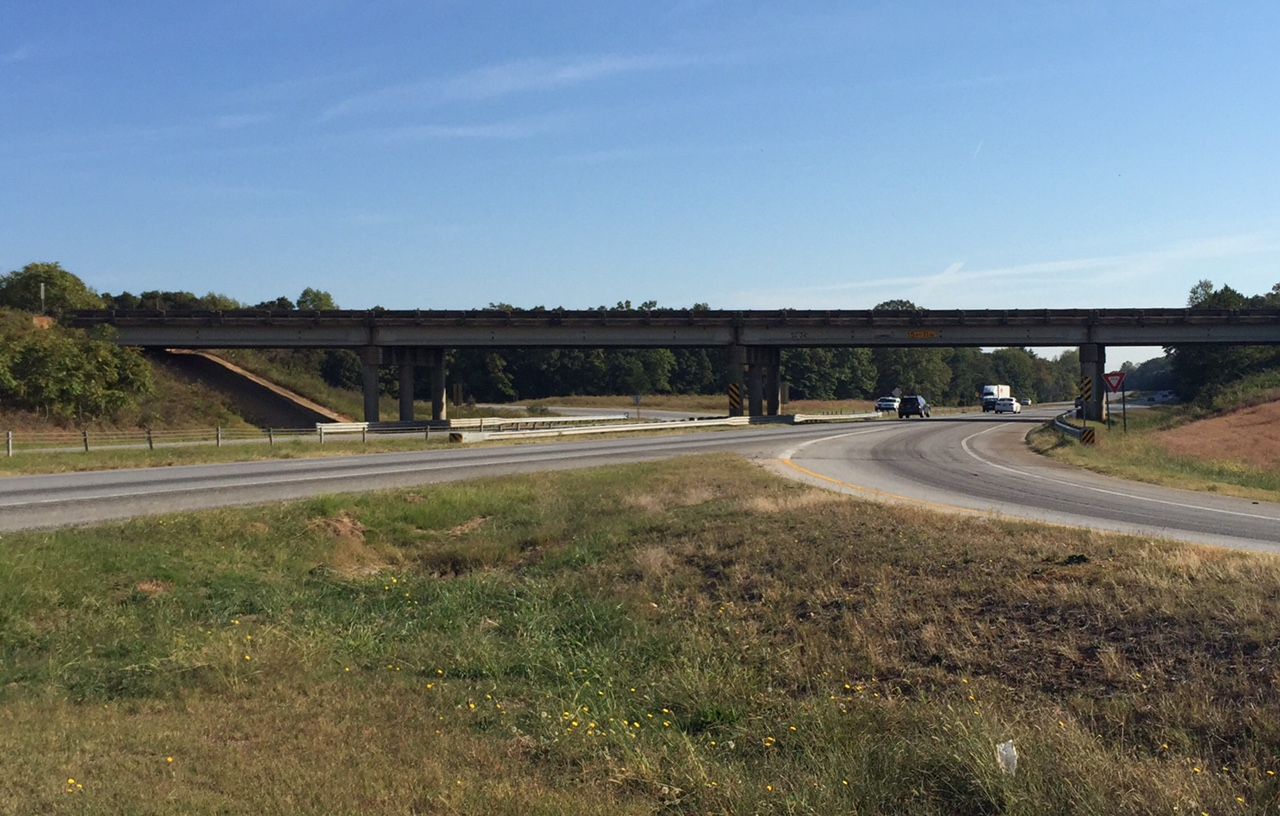 Highway 24 overpass at I-85