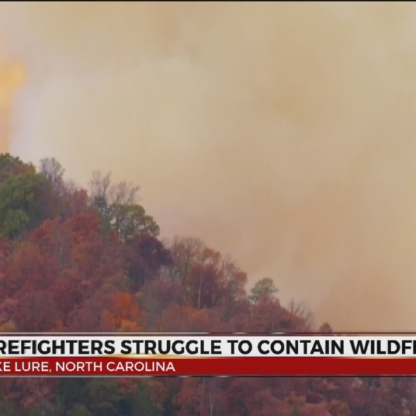 Rutherford County Wildfire Covers 1900 Acres, Evacuation Orders Issued