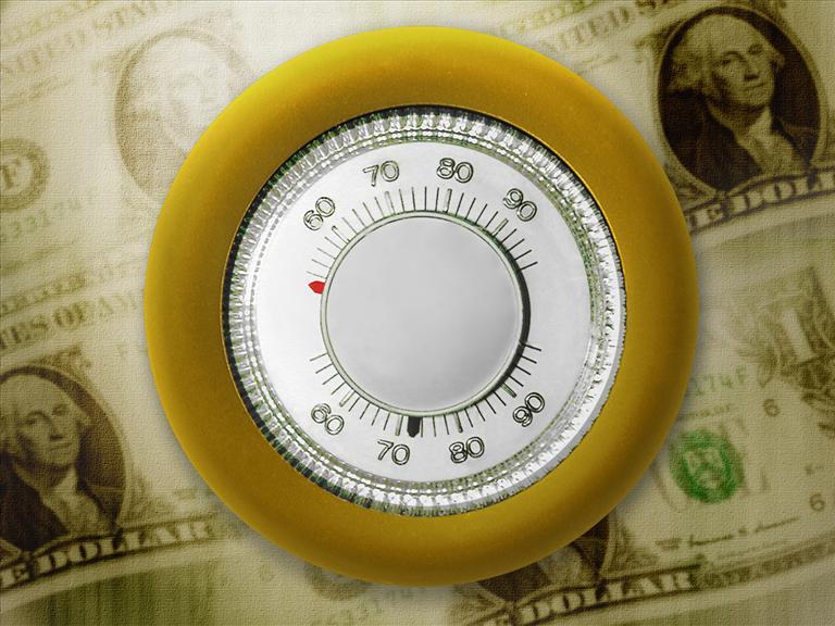 Thermostat on money generic_290605