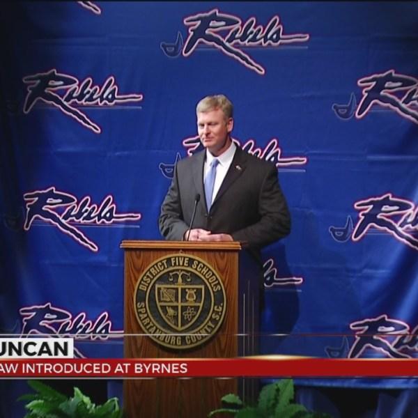 Shaw Introduced As Byrnes Head Coach