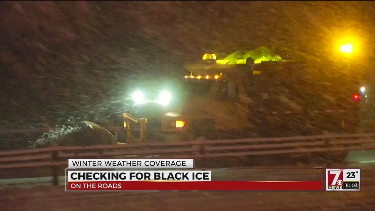 Troopers caution drivers of black ice