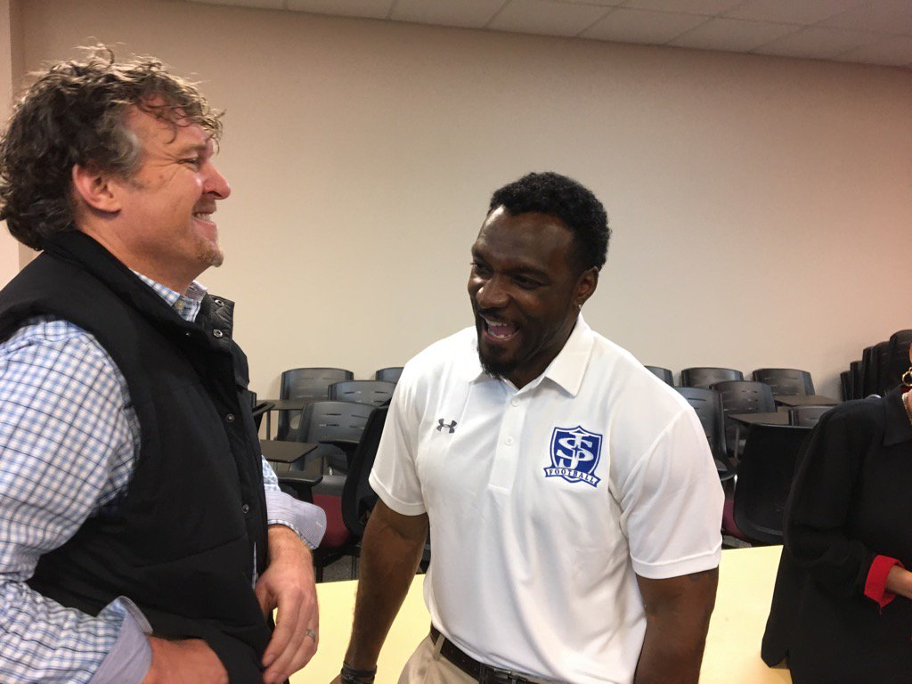 Former USC running back Brandon Bennett is the new head football coach at St. Joseph's High School in Greenville._308776