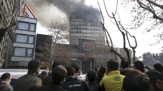 APTOPIX Iran Fire_305238