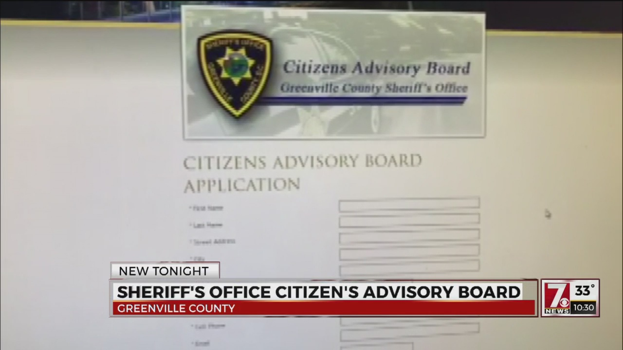 Sheriff introduces Citizens Advisory Board in Greenville County