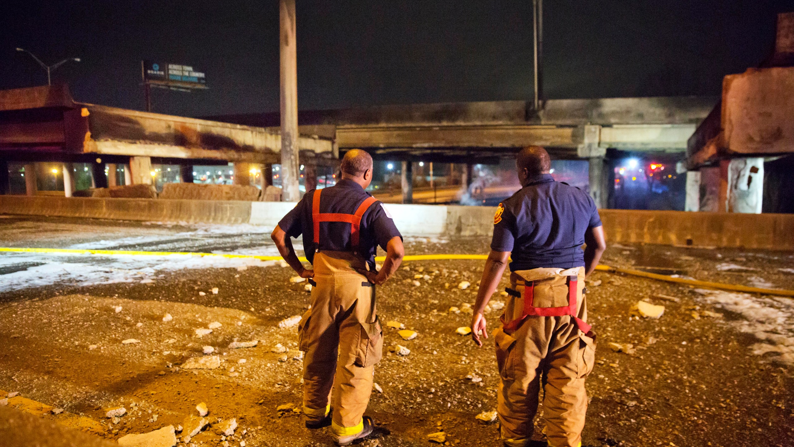 Overpass Collapse Fire_355720
