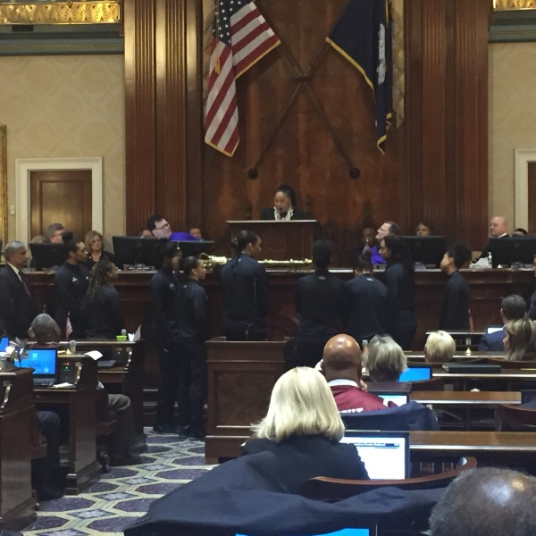 Dawn Staley address state lawmakers_370486
