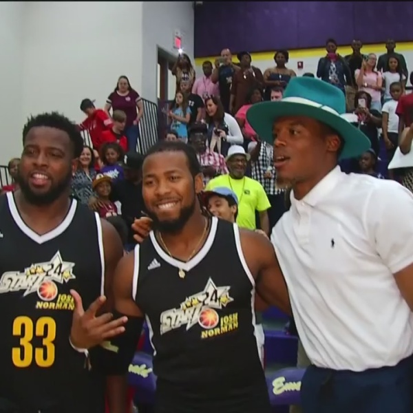 Josh Norman Returns to Greenwood for Celebrity Basketball Game and Brings Cam Newton