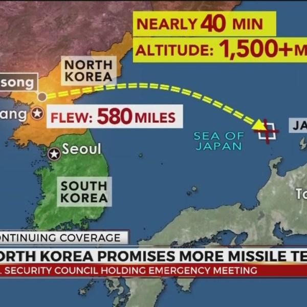 North Korea promises more missile tests