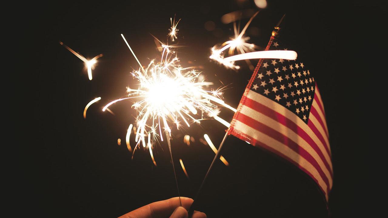 fireworks sparkler flag_411374