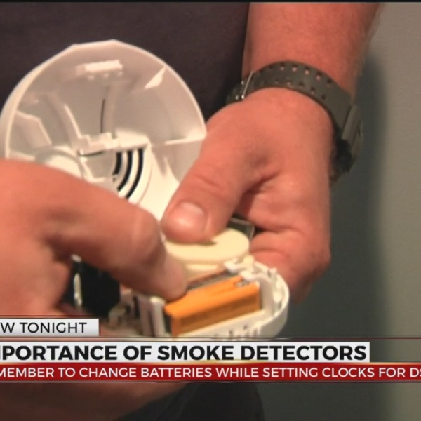 Daylight Saving Time is the time to change your smoke alarm batteries
