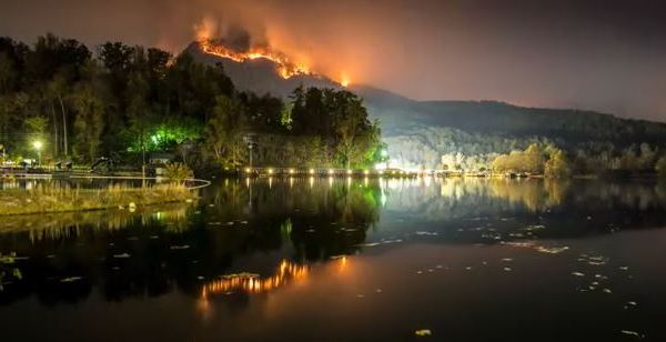 lake lure fire time lapse video_273581