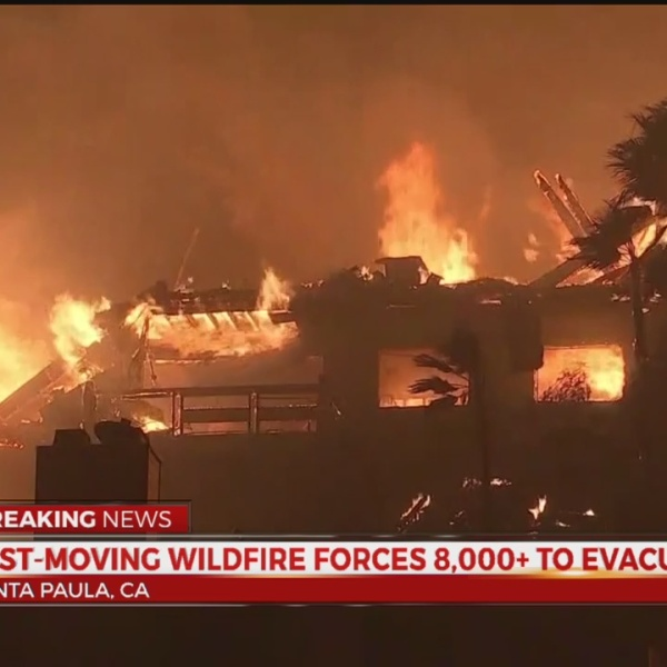 Wildfire forces 8K to evacuate