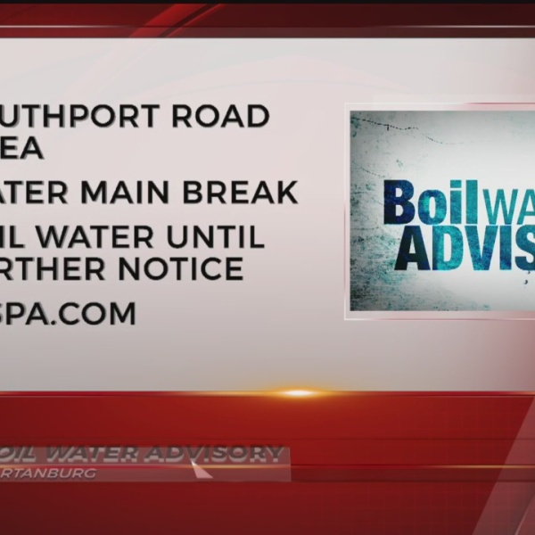 Boil water advisory issued after line break in Southport Rd. area in Spartanburg