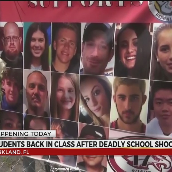 Students back in class after Florida school shooting