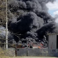 Anderson scrap yard fire