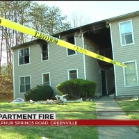 Overnight fire damages apartments in Greenville Co.