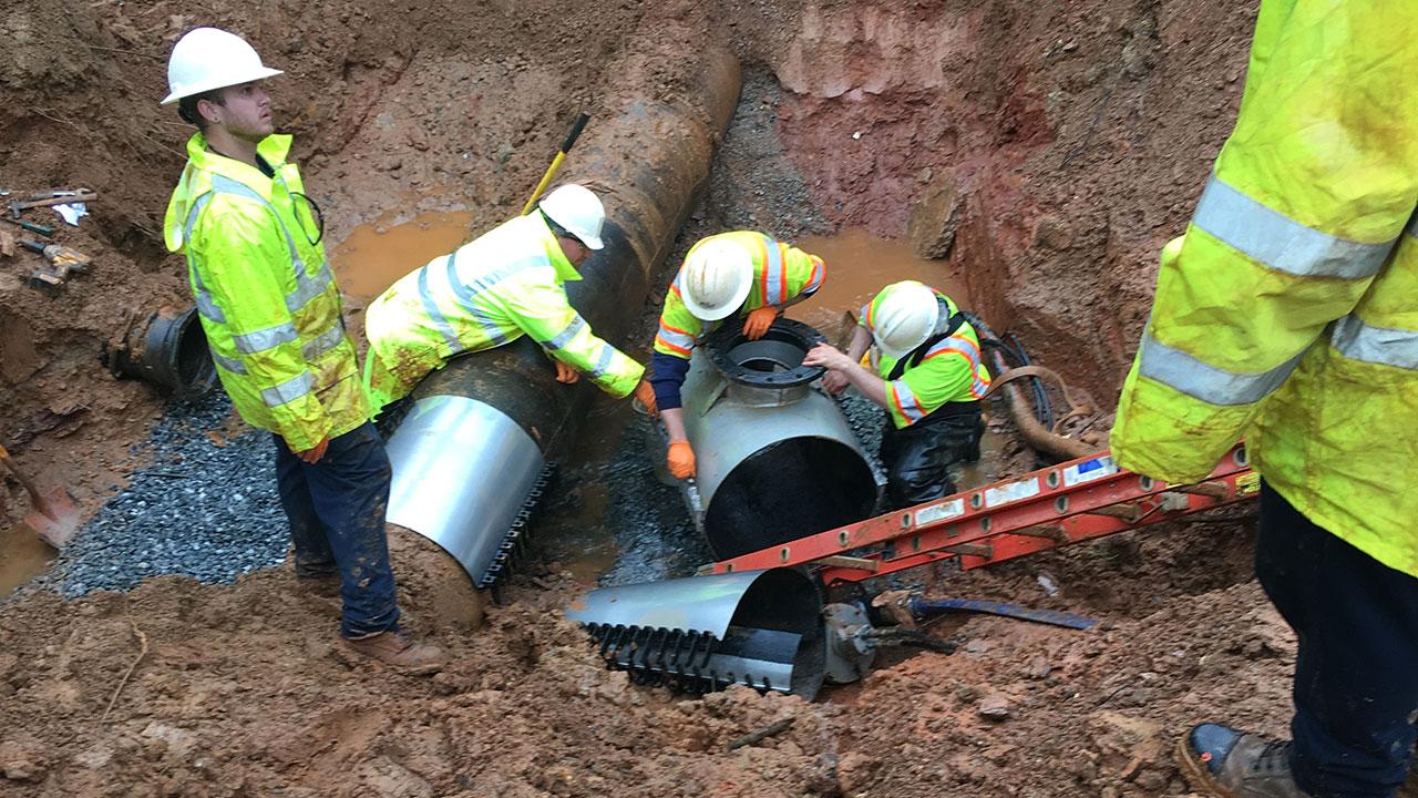 Spartanburg Water Southport Road water main break repairs