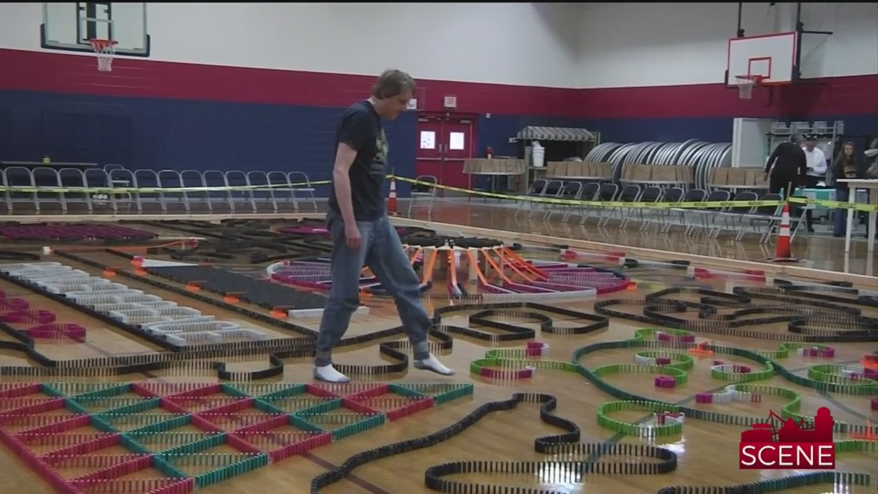 Greer World Record Holder Topples 25K Dominoes