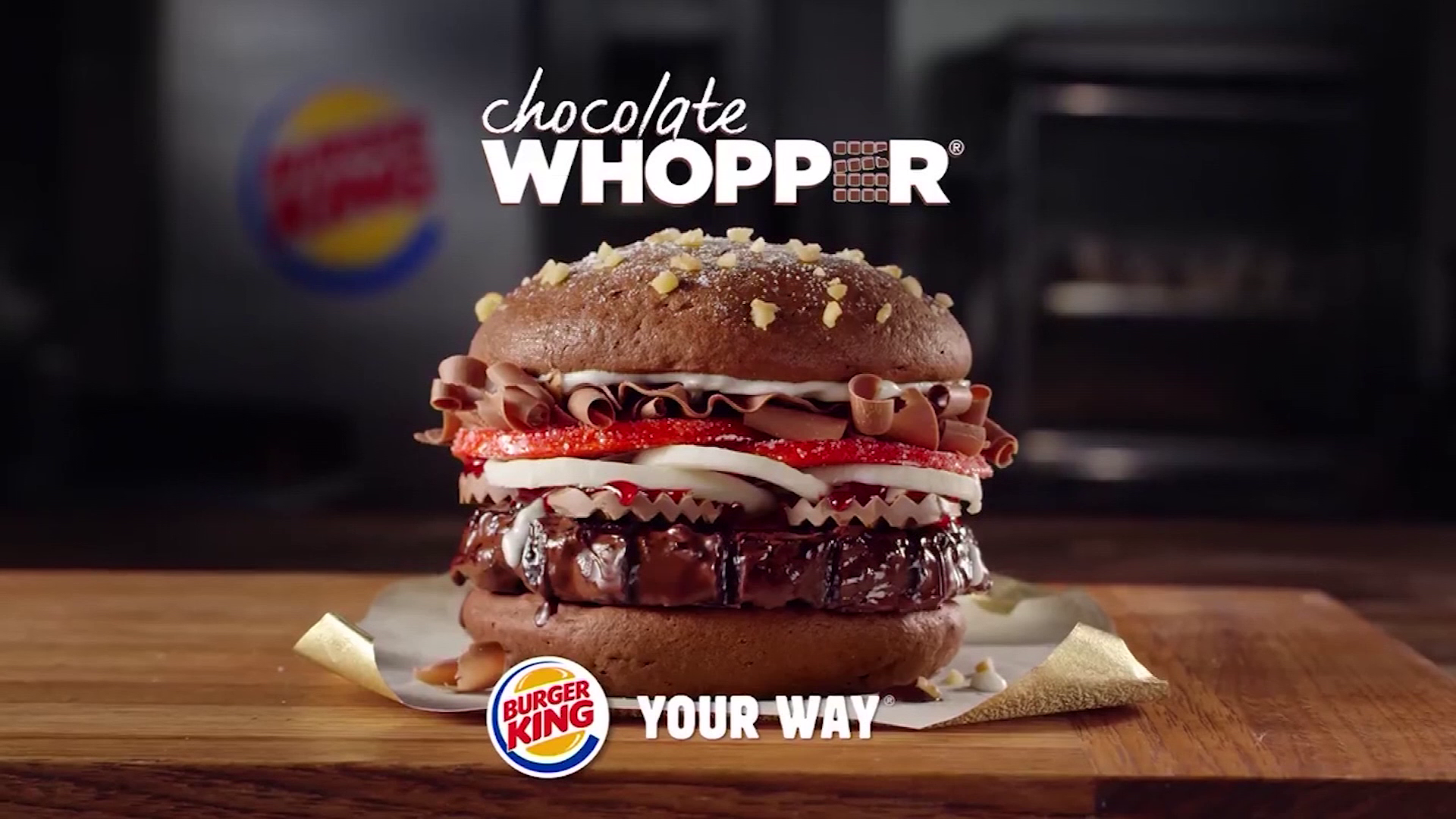 Chocolate Whopper April Fools Day Burger King