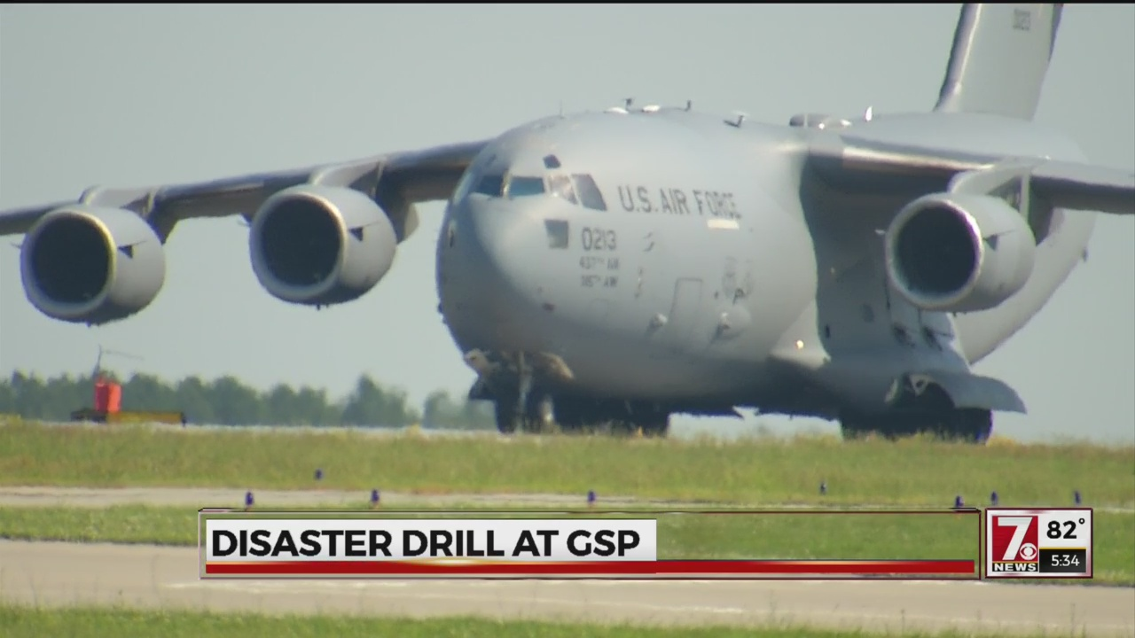 C-17 arrives at GSP for mass casualty disaster training