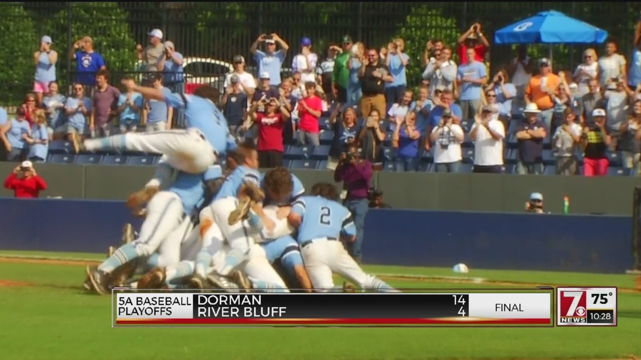Dorman Powers Past River Bluff, 14-4 to Win First Baseball State Title Since 1971
