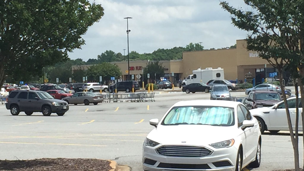 Bomb squad at Walmart on Liberty Hwy  in Anderson