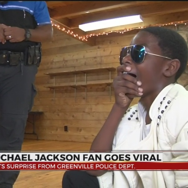 Viral Michael Jackson Fan Gets Surprise from Greenville Police Officer