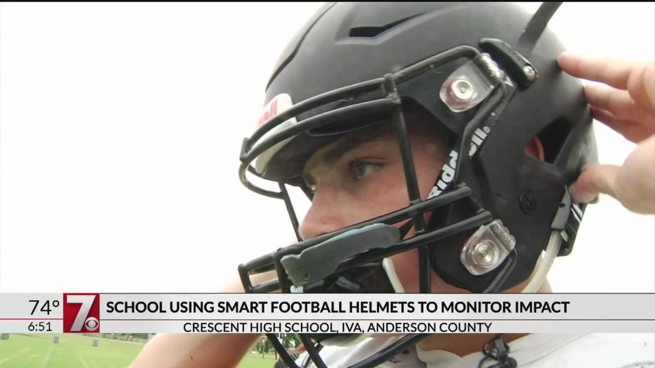 Anderson Co. high school football team using smart helmets