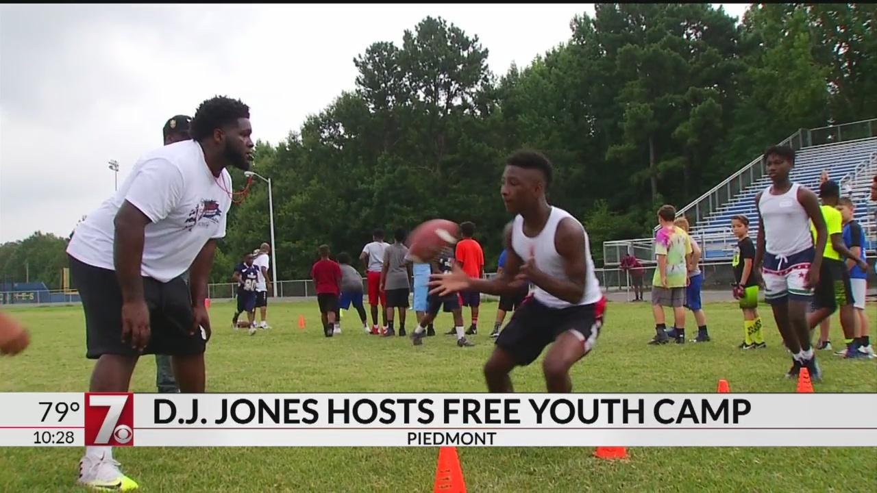 D.J. Jones Host Free Football Camp at Wren High School