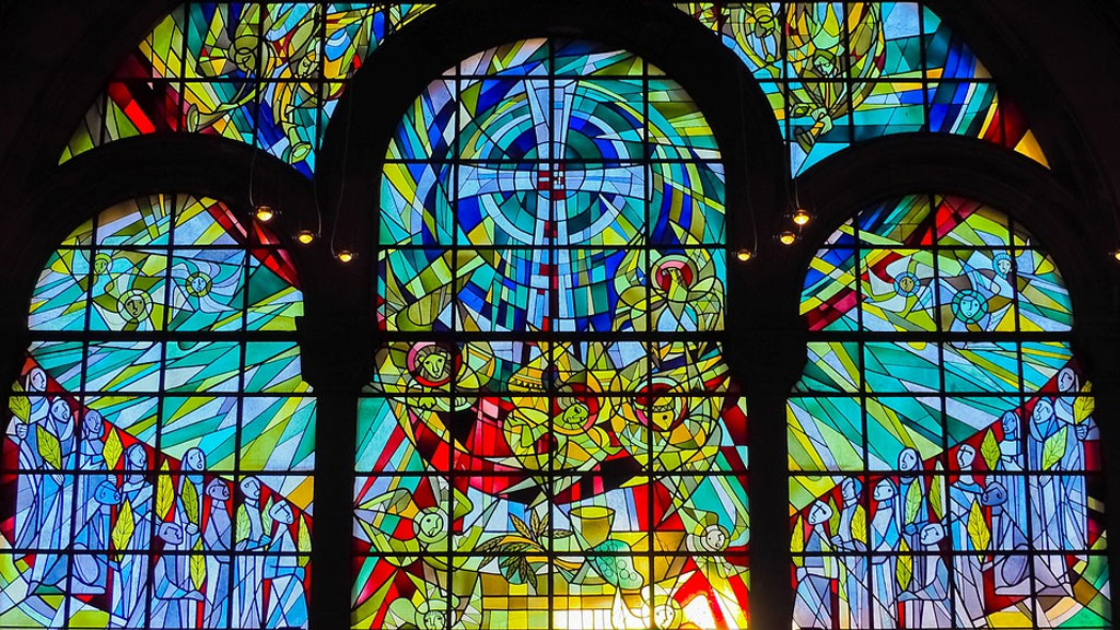 stained glass window church generic