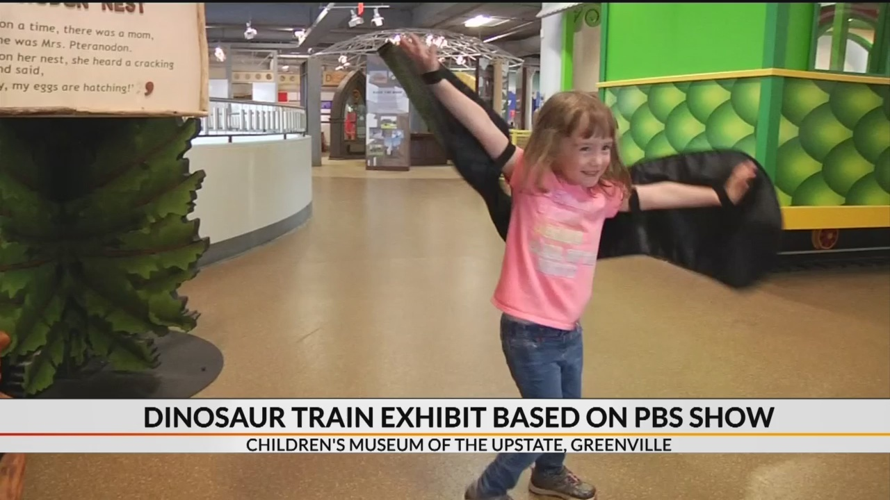 Dinosaur train exhibit based on Jim Henson show comes to Greenville