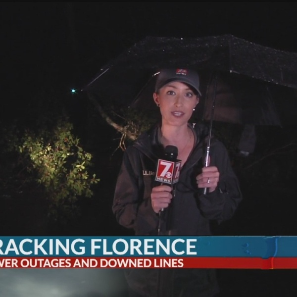 Florence causes tree damage and power outages in Upstate