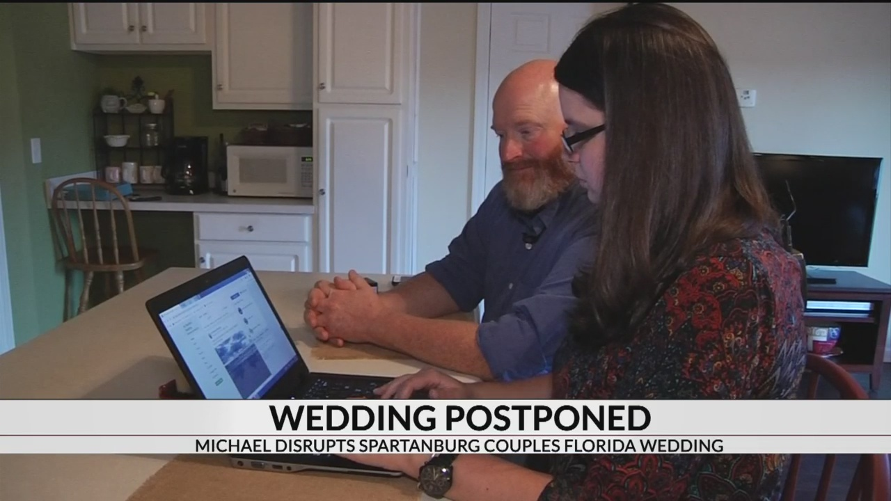 Spartanburg couple's wedding postponed by Hurricane Michael