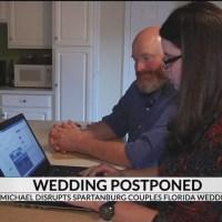 Spartanburg couple's wedding postponed by Hurricane Michael