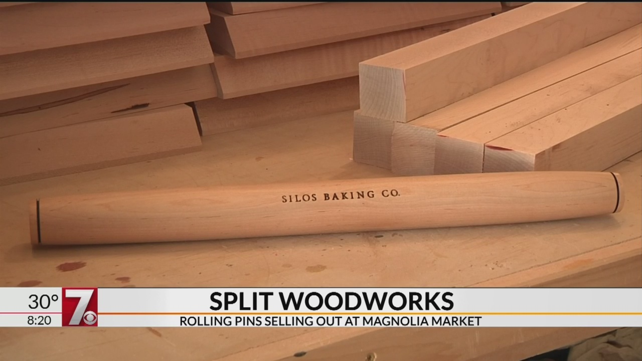 Greer family making rolling pins for Magnolia Market