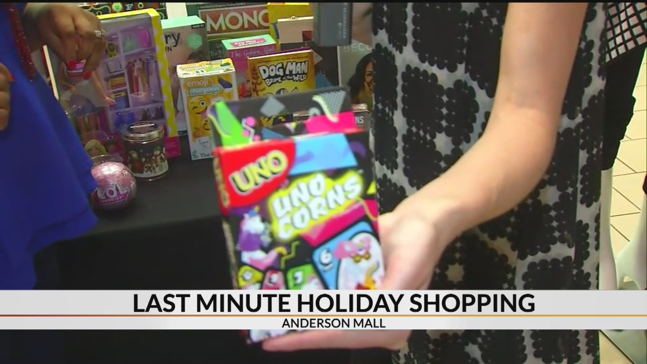 Christmas gift ideas for last minute shoppers at Anderson Mall