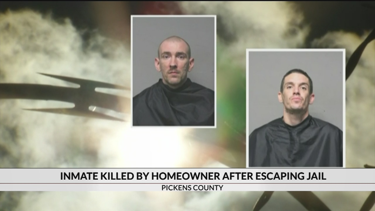 1 inmate killed, 1 captured after escaping Pickens Co  jail