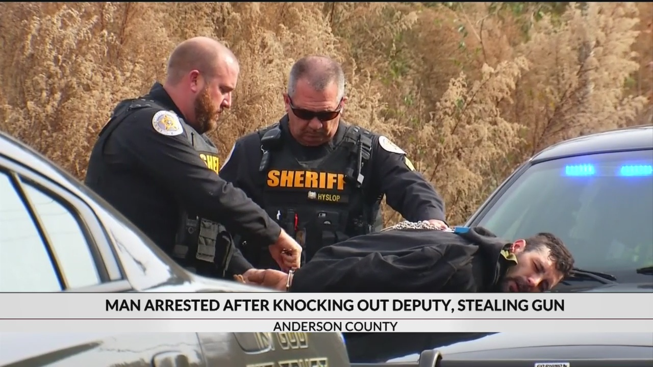 Man who knocked out deputy, prompting manhunt in Anderson Co